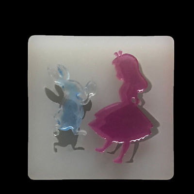 Alice Rabbit  Silicone Pendant Mold Hand Making Jewelry Resin Mould Craft DIY