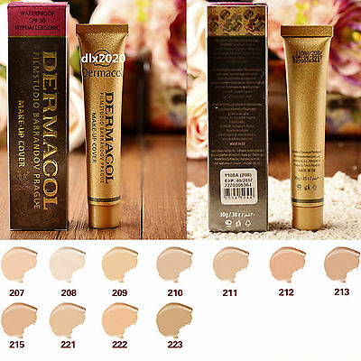 DERMACOL High Covering Foundation Legendary Film Studio Face Cover Make Up 30g