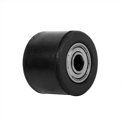 Rubber & Iron Chain Pulley Roller 8mm Wheel Guide ATV Dirt Pit Motorcycle Bike