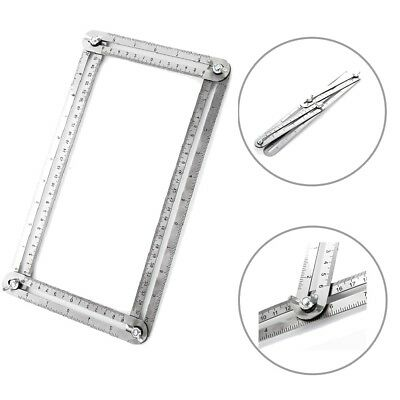 UK Stainless Steel Multi-Angle Ruler Tool Measures Easy to Use All Angles Forms