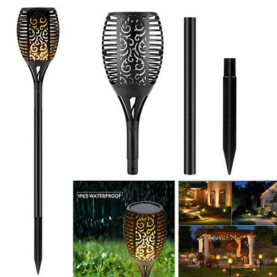 2PCS Solar Powered LED Torch Light Flame Flickering Landscape Garden Stake Lamp
