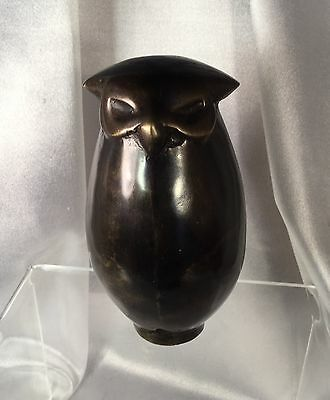 Owl bronze sculpture, modern abstract well modelled,solid bronze,EC