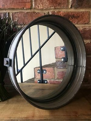 \Industrial Vintage Porthole Home Garden Metal Glass Bathroom Large Wall Mirror