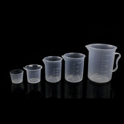 1PC Kitchen Lab Graduations Cups Plastic Capacity Test Cylinder Measuring Cup AU