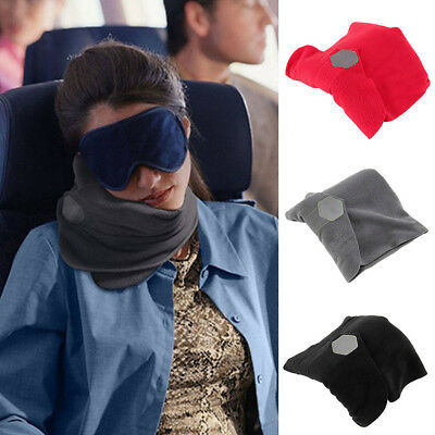 Inflatable Airplane Neck Pillow Comfortable Travel Pillow For Sleep Home Textile