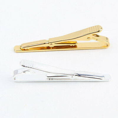 NEW Men Metal Man Plain Gold Silver Necktie Tie Clip Pin Clasp Clamp Bar Gift