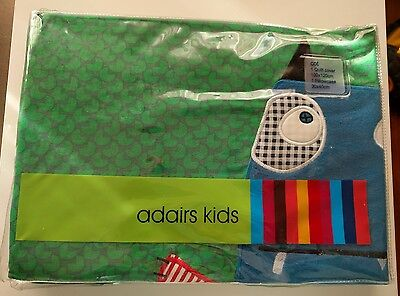 New - Adairs Cot Size Monster Quilt Cover & Pillowcase Set