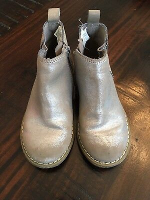 Gap Kids Chelsea Boot Silver Girls Size 11 Fall Back To School Booties