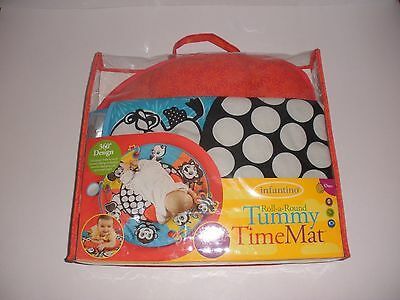 INFANTINO ROLL-A-ROUND TUMMY TIME MAT with Supportive Pillow & Detachable Toys