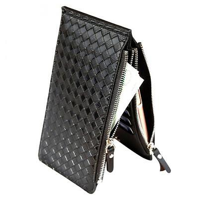 Mens New 2019 Soft PU Weave Leather Wallet/credit card holder
