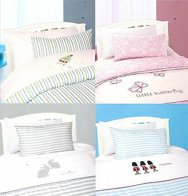 Cot Bed Toddler Bed Kids Baby Duvet Cover and Pillowcase Quilt Cover Bedding Set