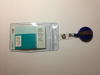 RETRACTABLE OPAL BUS PASS HOLDER - ROYAL BLUE - WATERPROOF and NEW