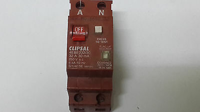 Clipsal Combo RCD/MCB Double Pole Circuit Breaker / Safety Switch 4EBE232/30