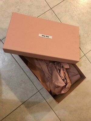 Authentic Miu Miu Shoe Box
