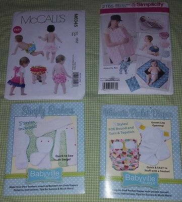 Patterns for cloth diapers, diaper covers and baby blanket