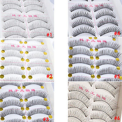 10 Pairs False Eyelashes Long Natural Handmade Fake Lashes Extension
