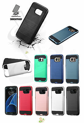 Samsung Galaxy S8 ACTIVE Hybrid Armor Brushed Rugged Rubber Protector Case Cover