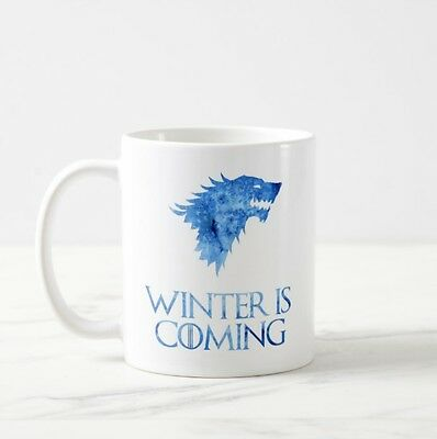 Game Of Thrones GOT Tv Series Usa Stark Winter Coming Tea Coffee Cup White Mug