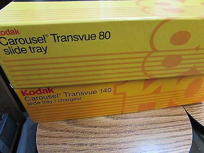 TWO Kodak Carousel Transvue 140 & 80  Slide Trays slide tray