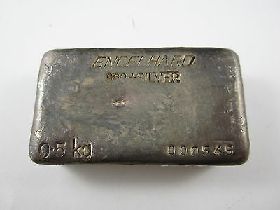 Engelhard Vintage Cast Silver Bar 10 Oz S P054688 7th
