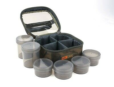 Fox CamoLite Glug Pot Case 6 or 8 pots Carp Fishing Luggage CLU310 CLU311