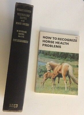 Lot Of 2 Veterinary Horse Owners Books ~ How To Recognize...~ Vet Notes 4 Owner…
