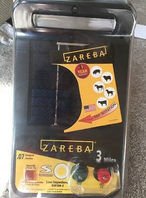 Zareba ESP5M-Z 3 Mile Solar Low Impedance Charger Electric Fence Powered Animal