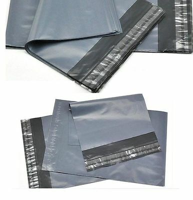 100 BAGS OF 6x9 INCH STRONG POLY MAILING POSTAGE POSTAL QUALITY SELF SEAL GREY