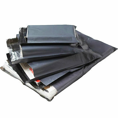 100 - 10 x 14 Grey Mailing Plastic Postage Post Packing Postal Courier Bags