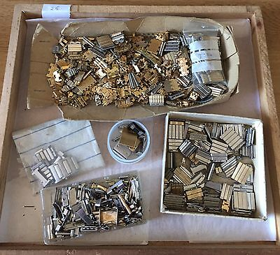 Watch Strap parts and Clasps. Interesting lot as watchmaker has retired.25