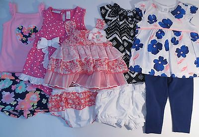 Baby Girls Size 6-9 9 Months Spring Summer Clothes Outfits LOT