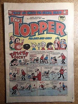 The Topper Comic No.1646 August 18th 1984 Vintage Old British Comics