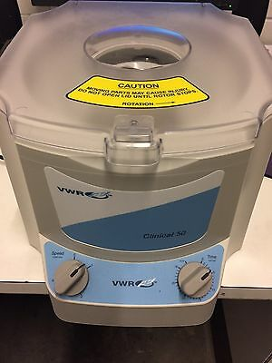 VWR Clinical 50 Centrifuge 82013-800 with Rotor