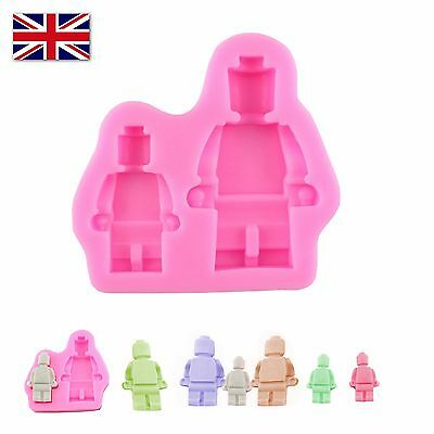 Robot Figures Shape Silicone Mold For Chocolate Fudge Baking Ice Decorating Lego