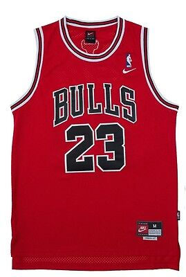 YOUTH Chicago Bulls Red Michael Jordan 23 KIDS Throwback Swingman Jersey NWT New