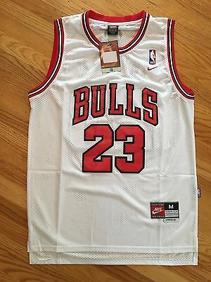 YOUTH Chicago Bulls White Michael Jordan 23 KIDS Throwback Swingman Jersey NWT