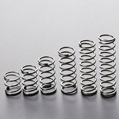 10pcs Spring Compression Springs Steel Wire Diameter 0.6mm 0.7mm Length 5-50mm