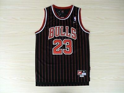 YOUTH Chicago Bulls Striped Michael Jordan 23 KIDS Throwback Swingman Jersey NWT