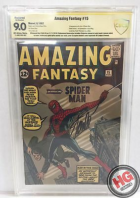 Amazing Fantasy #15 8/62 CBCS 9.0 R 1st Spider-Man SIGNED by Stan Lee HOLY GRAIL