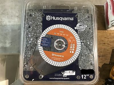 "Husqvarna 12"" Wet/Dry Segmented Diamond Blade 542774462 1""-20 mm Concrete Brick"