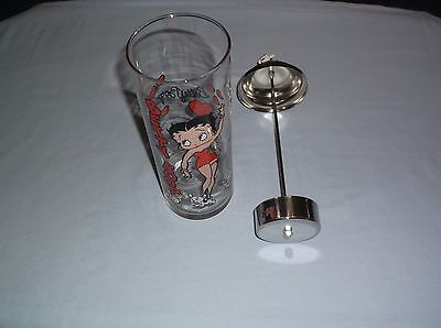 Betty Boop Glass Straw Holder & Pudgy