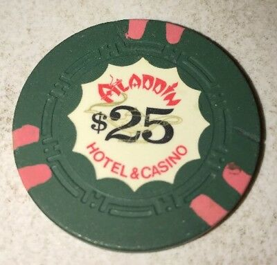 Aladdin $25 Casino Chip Mild Hairline Crack Las Vegas Nevada 2.99 Shipping