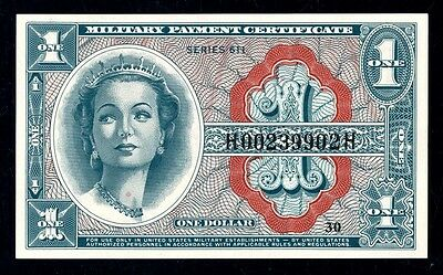Series 611 $1 Military Payment Certificate PCGS Superb Gem New 68 PPQ