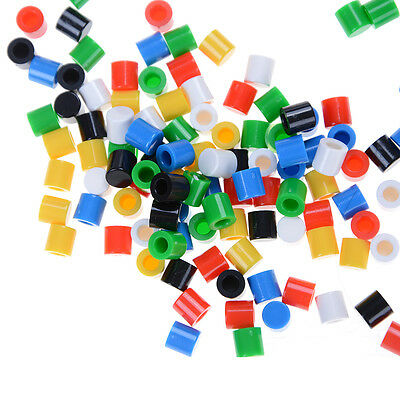 100pcs Colors Plastic Cap Hat 6*6mm A56 Tactile Push Button Switch Lid Cover FYU