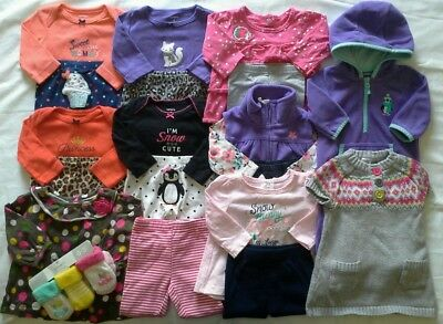 Baby Girls Newborn 0/3 3 months Fall Winter clothes outfits clothing lot!