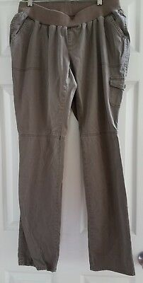 Oh Baby By Motherhood Maternity Brown Cargo Pants Size Large