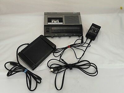 Sanyo Memo Scriber Microcassette Transcriber Recorder TRC-5020 With Foot Control