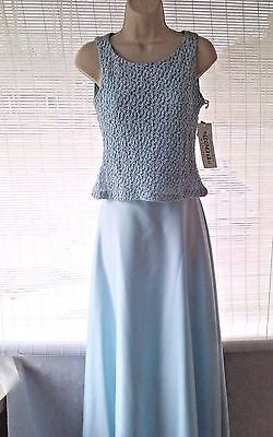 Betsy & Adam by Jaslene  2 Pc Blue Formal gown Mother of the Bride/Prom Size 8