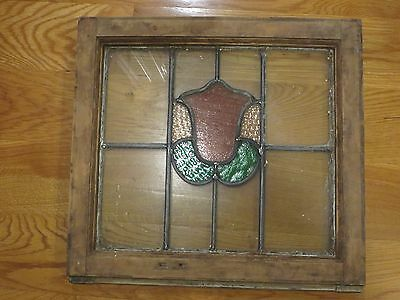 old antique stained glass leaded glass window English