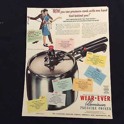 1947 Wear-Ever Original Print Ad - Aluminum Pressure Cooker